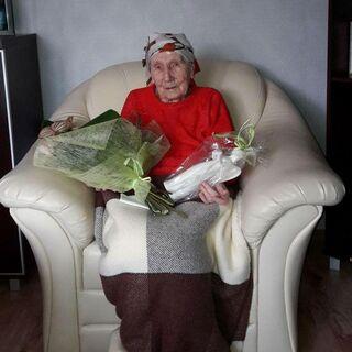Antonina Partyka on her 109th birthday.