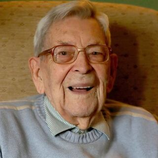 Bob Weighton shortly before his 110th birthday.