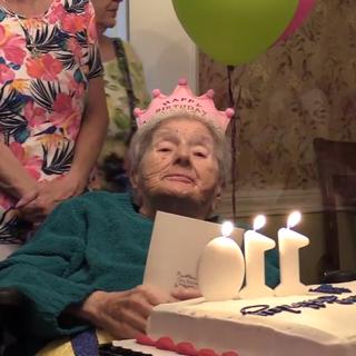 Plummer on her 110th birthday