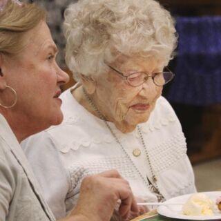 Iris Westman on her 114th birthday.