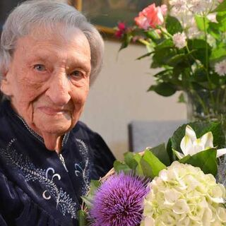 Anne Brasz-Later one day before her 107th birthday