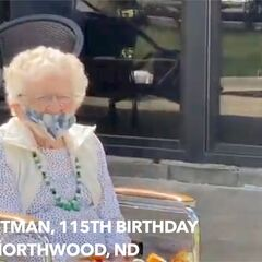 Iris Westman on her 115th birthday.