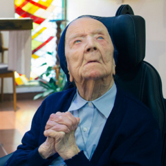 Lucile Randon in December 2018 at age 114.