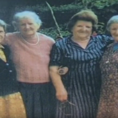 Emma Morano (far right) with her sisters in 1979.