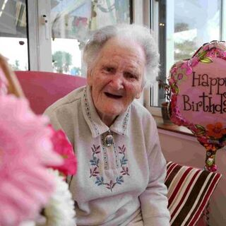Lilian Priest on her 106th birthday