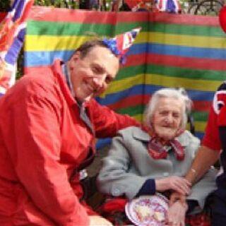 Jones, 112, celebrating the Queen's diamond jubilee in 2012, with MP Simon Hughes