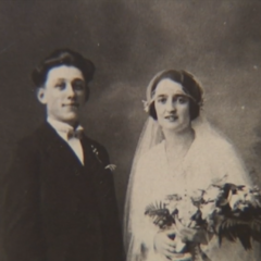 Meys with his wife, undated.