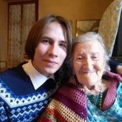 Emma Morano (114; right) with <a href=