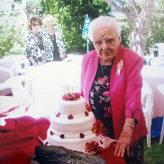 Lucy Mirigian on her 104th birthday (claims 105).