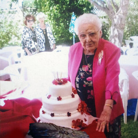 Lucy Mirigian on her 105th birthday.