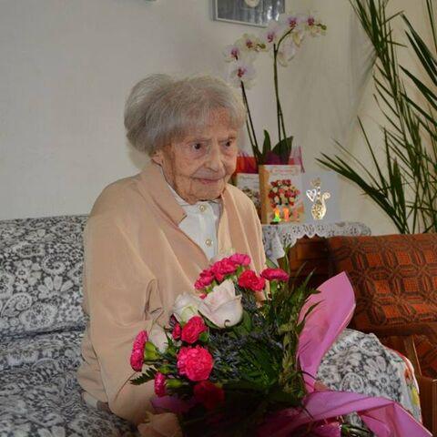 Jadwiga Szubartowicz at age 111.
