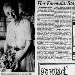 Sarah Knauss at the age of 90.