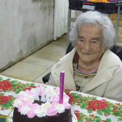 Benegas on her 110th birthday.