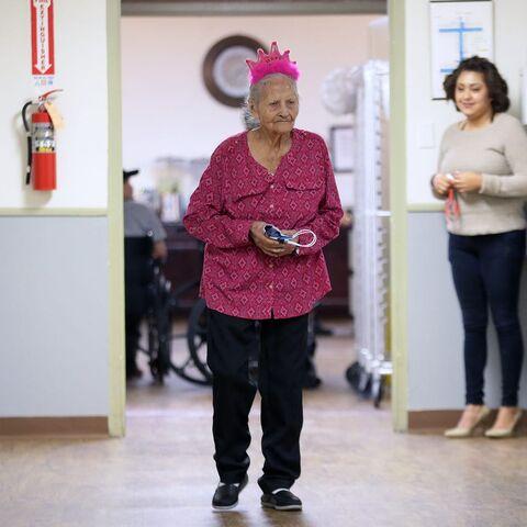 Maria De La Talamantes on her 110th birthday