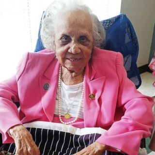 Avicia Thorpe on her 110th birthday