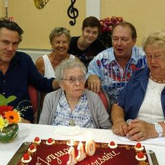 Marie-Louise Taterode on her 110th birthday.