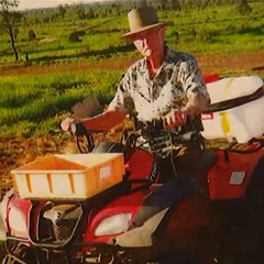 Undated photo of Kruger on his farm