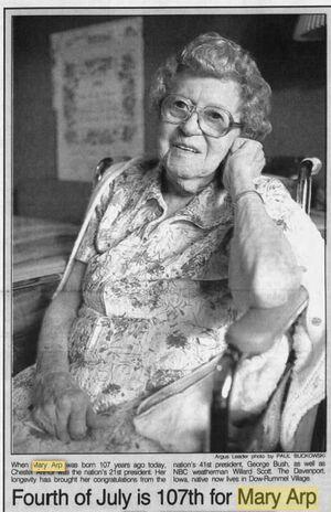 Mary Arp 1885-1998 107th