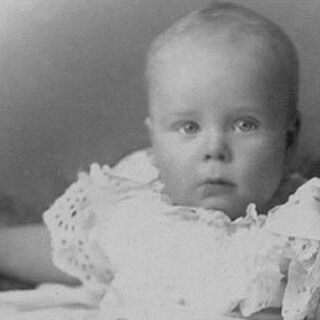 Henry Allingham as a baby in 1896.