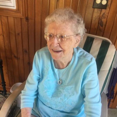 Irene Dutton on her 113th birthday.