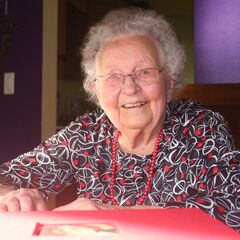 Stella Lennox at the age of 107