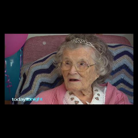 Margaret Vivian at age 112.