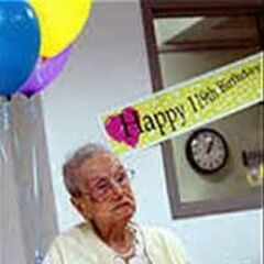 Sarah Knauss on her 119th birthday.