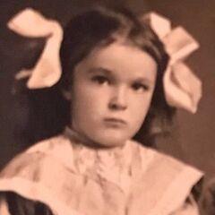 Edie Ceccarelli in childhood.