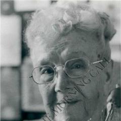 Sarah Knauss at age 107.