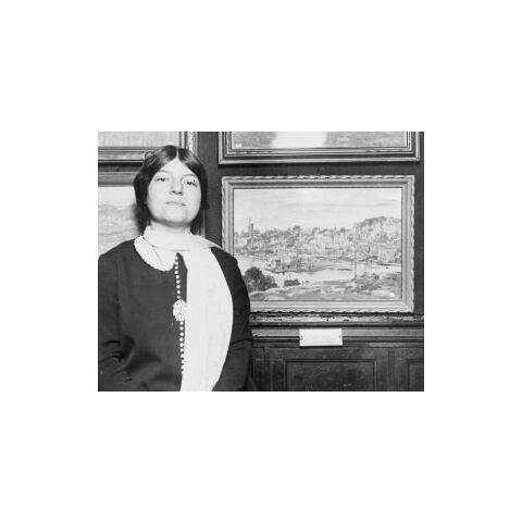 Theresa Bernstein-Meyerowitz in 1924 at age 34.