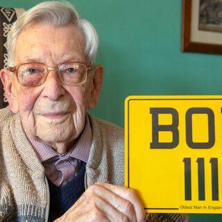 Bob Weighton celebrating his 111th birthday.