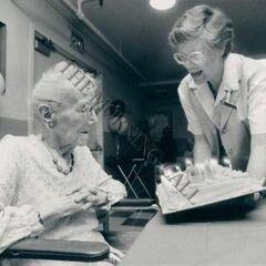 Sarah Knauss at age 113.