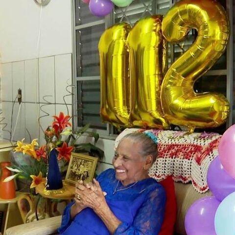 Margarida Blanco on her 112th birthday.