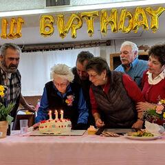 Edie Ceccarelli celebrating her 111th birthday.