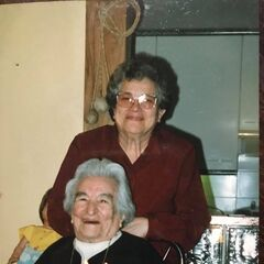 Benegas on her 95th birthday.
