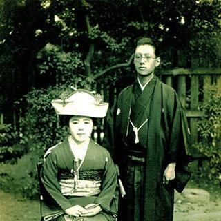 Mineshiba with her husband, Ichiro.