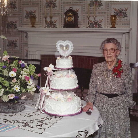 Grace Thaxton at age 100