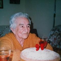 Benegas on her 98th birthday.