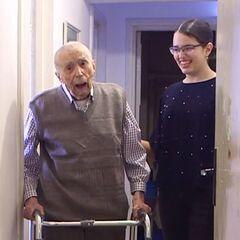 Comanescu on his 111th birthday