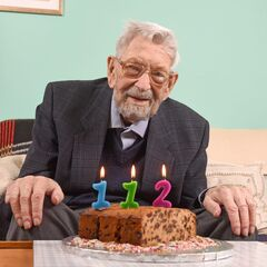 Bob Weighton on his 112th birthday.