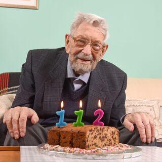 Bob Weighton on his 112th birthday.