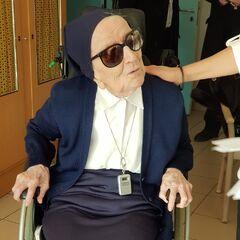 Lucile Randon on her 115th birthday.