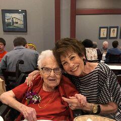 Lucy Mirigian on her 113th birthday.