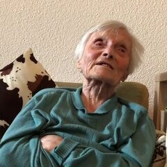 Alice Schaufelberger-Hunziker on her 112th birthday