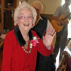 Edie Ceccarelli on 108th birthday.