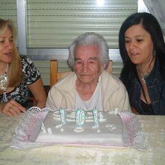 Benegas on her 101th birthday.