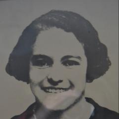Benegas as a young woman.
