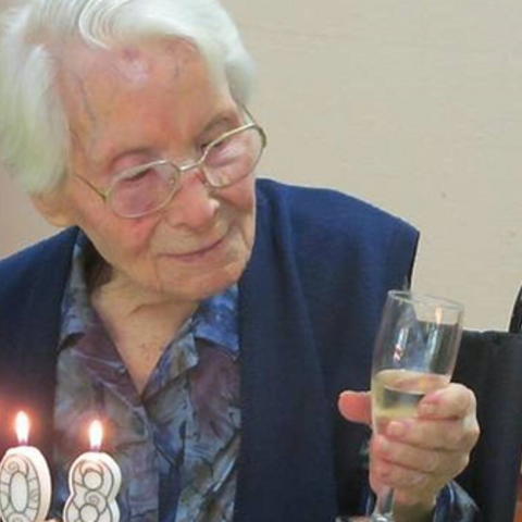 Jousseaume on her 108th birthday