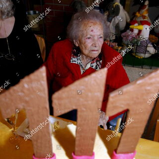 Rein on her 111th birthday.