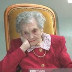 Marie Bremont on her 114th birthday.